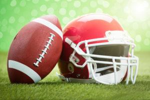 helmet with football