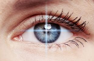 blue colored eye